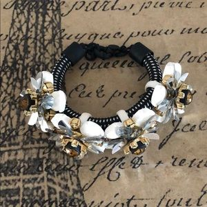 J. Crew Flowers Statement Bracelet